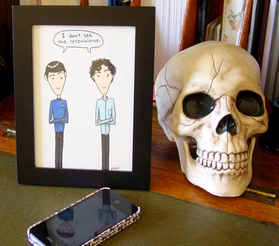 No Resemblance, framed art by Amy Crook