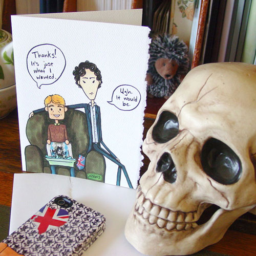 Sherlock Thank You card by Amy Crook on Etsy