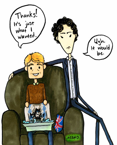 Gee, Thanks, a Sherlock comic by Amy Crook