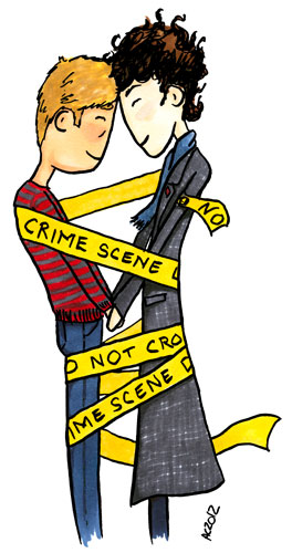 Like Sherlock Loves Crime Scenes cartoon by Amy Crook