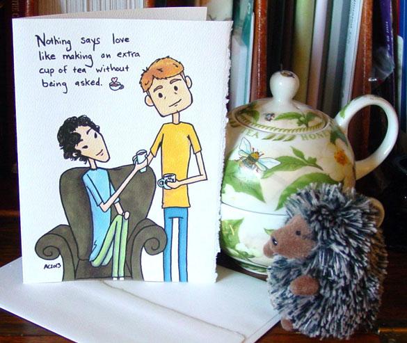 Sherlock Valentine by Amy Crook at Etsy