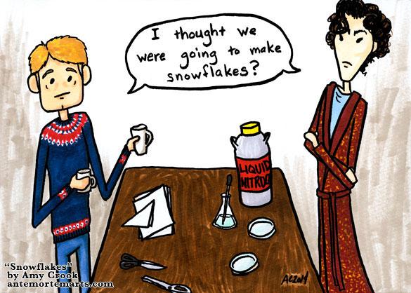 Snowflakes, a Sherlock parody comic by Amy Crook