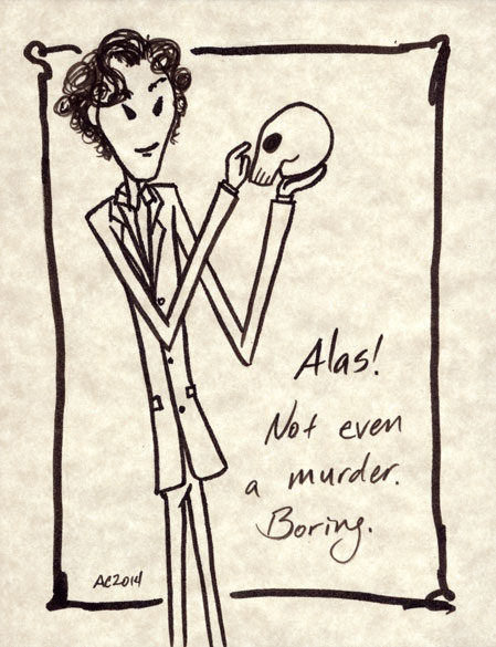 Boring Yorick, a Sherlock sketch by Amy Crook
