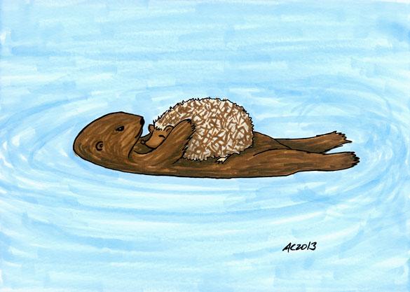 Floating Nap, dorky fan art by Amy Crook