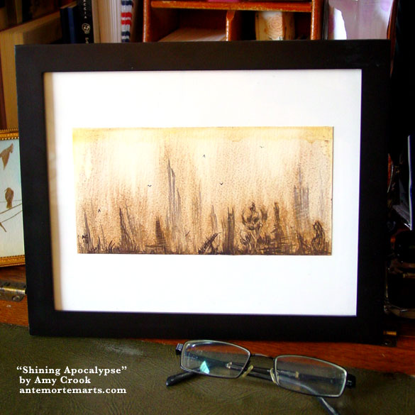 Shining Apocalypse, framed art by Amy Crook