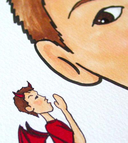 Shoulder Devil, detail, by Amy Crook