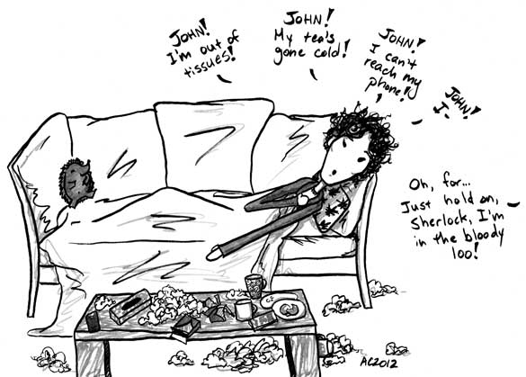 The Death of Me, 3 of 6, a Sherlock comic by Amy Crook