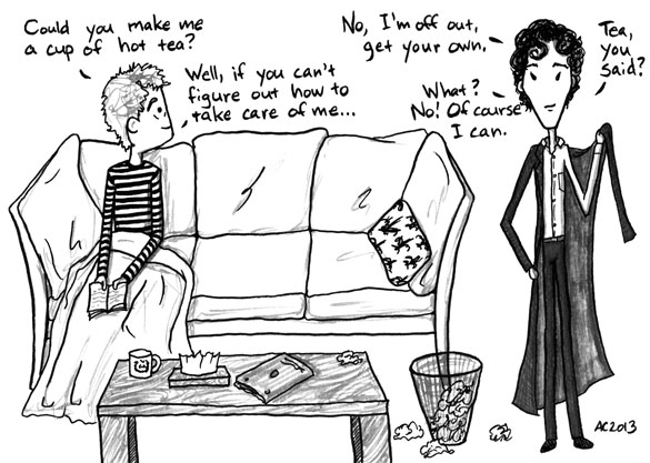 The Death of Me, Too, 2 of 6, a Sherlock comic by Amy Crook