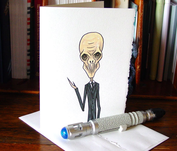 Sorry I Forgot, Doctor Who greeting card by Amy Crook on Etsy