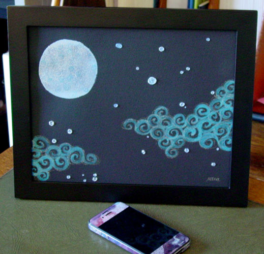 Silver Lining, framed art by Amy Crook