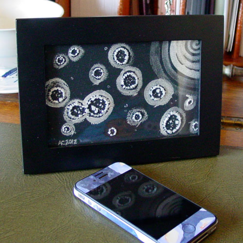 Silver Moon, framed art by Amy Crook