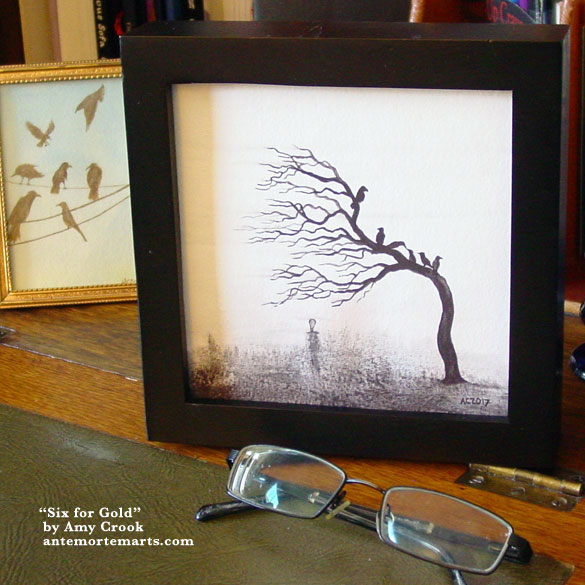Six for Gold, framed art by Amy Crook
