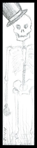 Skeleton Bookmark by Amy Crook