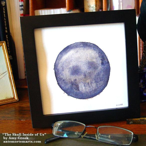 The Skull Inside of Us, framed art by Amy Crook