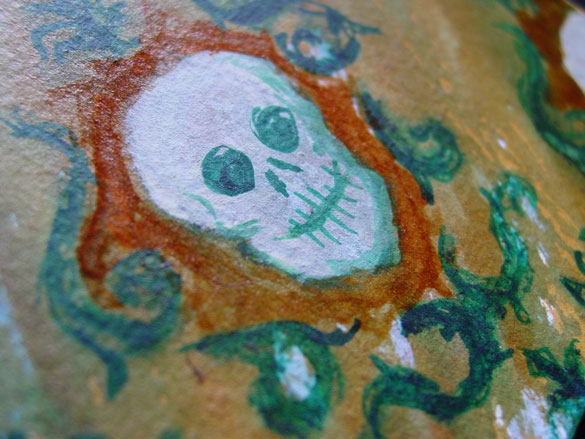 Skull Paper, detail, by Amy Crook