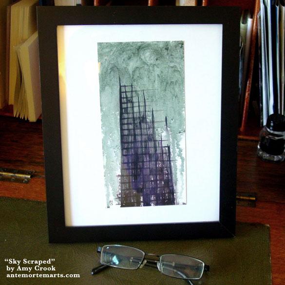 Sky Scraped, framed art by Amy Crook