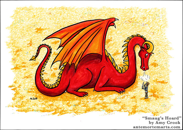 Smaug's Hoard, fan art by Amy Crook