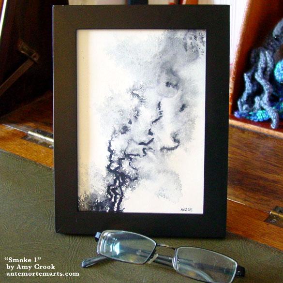 Smoke 1, framed art by Amy Crook