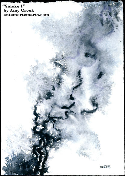 Smoke 1, abstract watercolor by Amy Crook