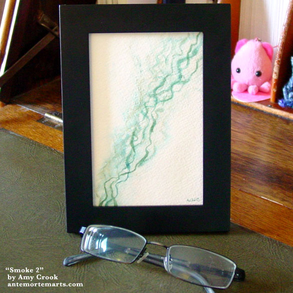 Smoke 2, framed art by Amy Crook
