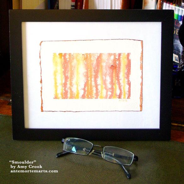 Smoulder, framed art by Amy Crook