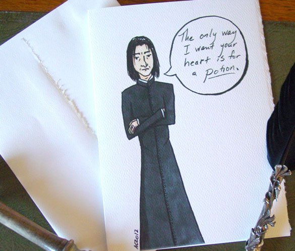Only in a Potion, Harry Potter parody Valentine by Amy Crook