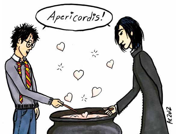 Harry Potter Valentine cartoon by Amy Crook
