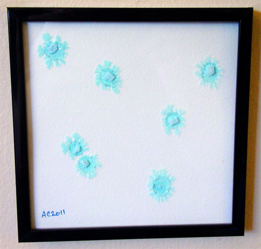 Snowflakes, framed art by Amy Crook