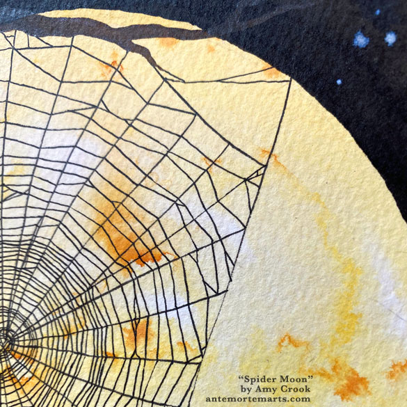 Spider Moon, detail, by Amy Crook