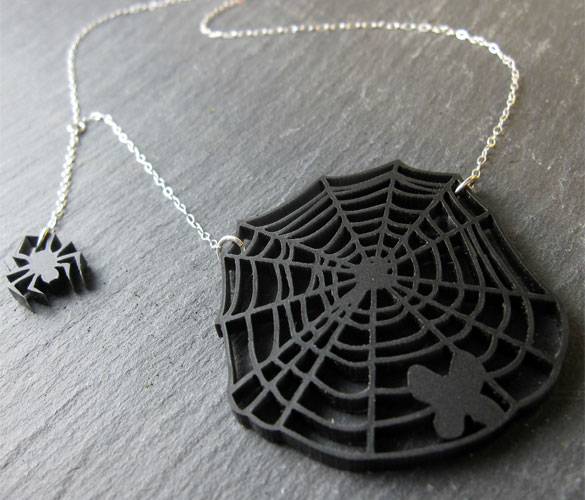 Spider's Delight necklace, collaboration with Shannon Henry