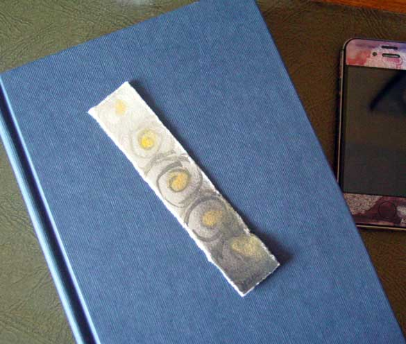 Spiral Bookmark 3, with book, by Amy Crook