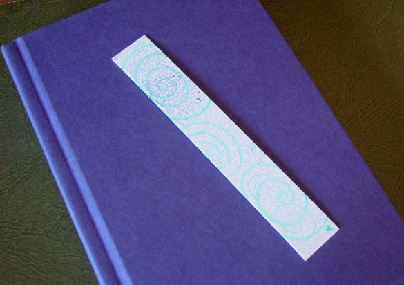 Spiral Bookmark 4, with book, by Amy Crook