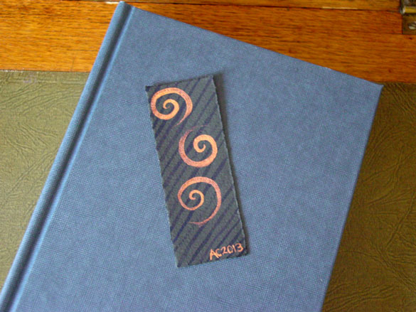 Spiral Bookmark 7, with book, by Amy Crook
