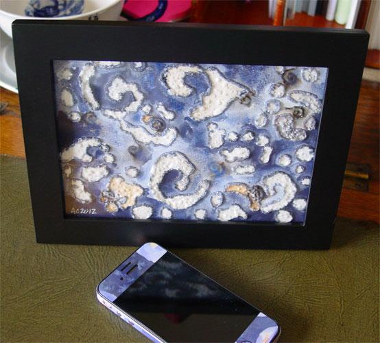 Spiral Islands, framed art by Amy Crook