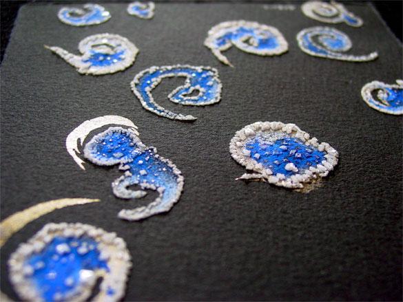 Spiral Splash, detail 2, by Amy Crook