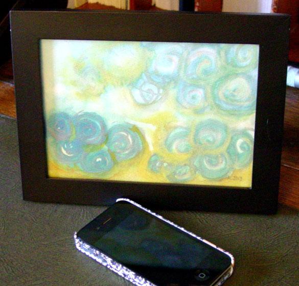 Spiral Sunrise, framed art by Amy Crook