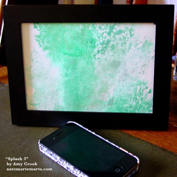 Splash 3, framed art by Amy Crook