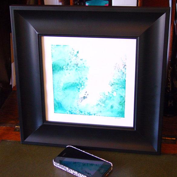 Splash 2, framed art by Amy Crook