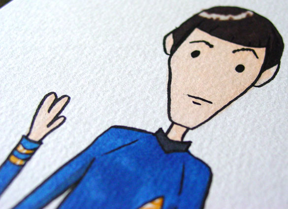 Live Long and Prosper, detail, by Amy Crook