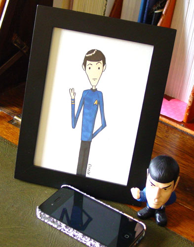Live Long and Prosper, framed art by Amy Crook