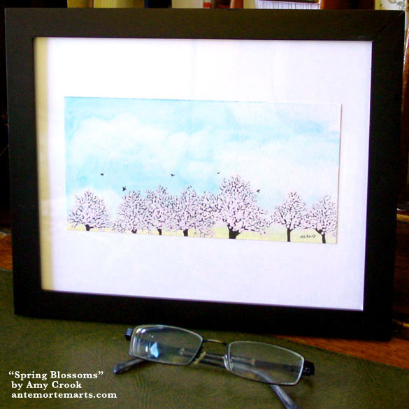 Spring Blossoms, framed art by Amy Crook