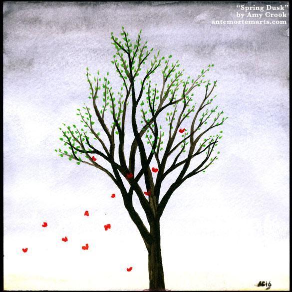 Spring Dusk, original art by Amy Crook