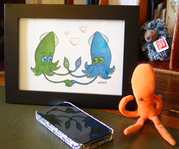 Tying the Knot, framed art by Amy Crook
