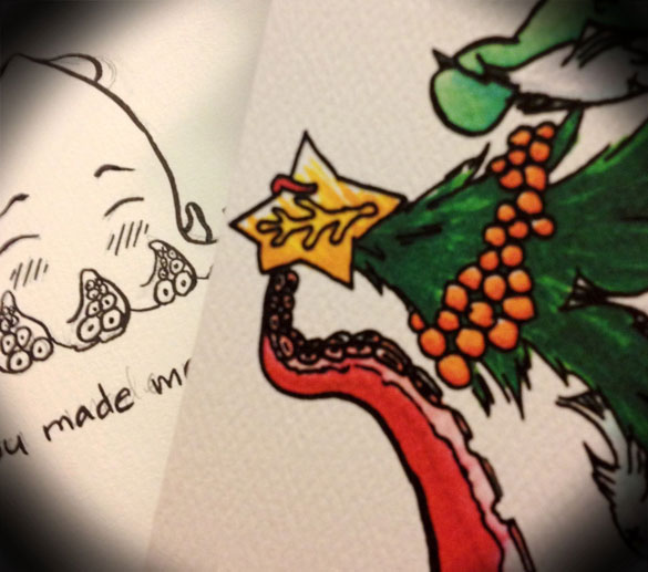 holiday cards and Valentine designs in progress