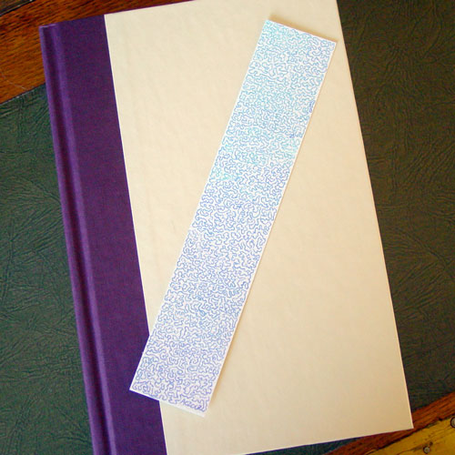 Squiggle Bookmark, with book, by Amy Crook