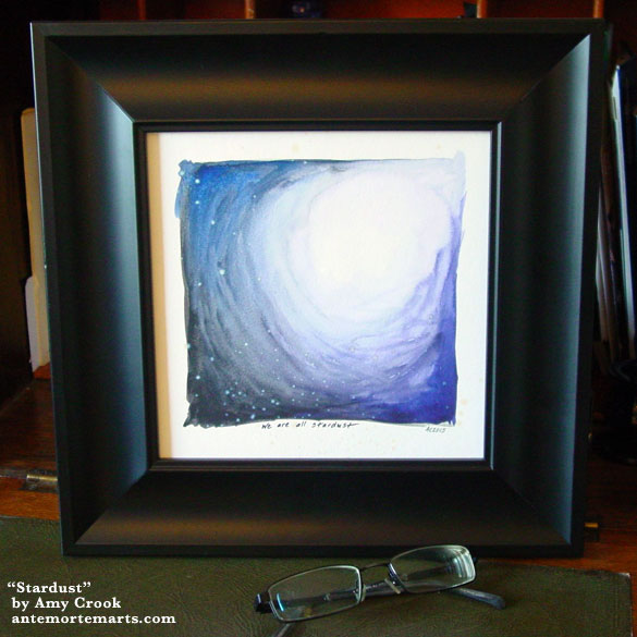Stardust, framed art by Amy Crook