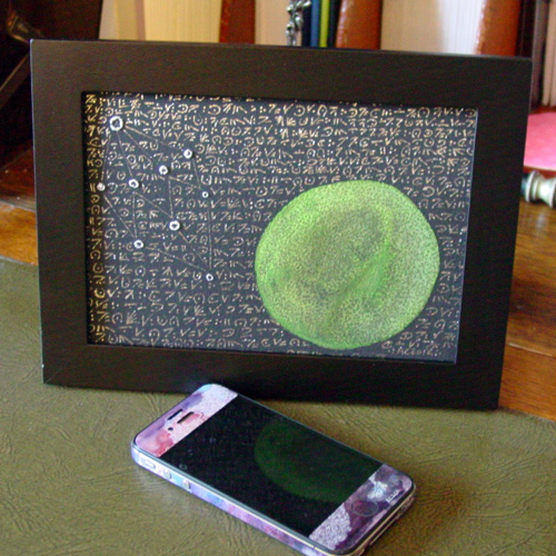 The Stars Are Right 2, framed art by Amy Crook
