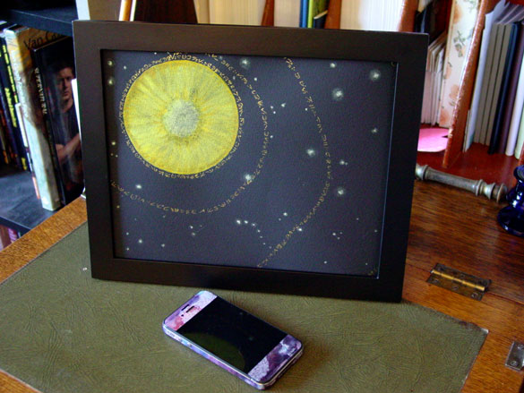 The Stars Are Right 4, framed art by Amy Crook