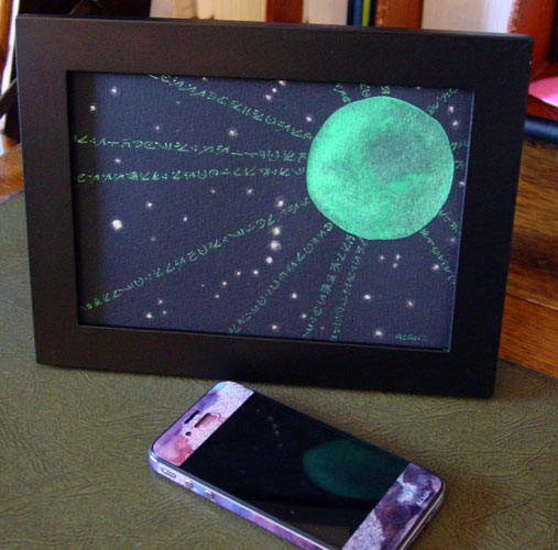 The Stars Are Right 5, framed art by Amy Crook