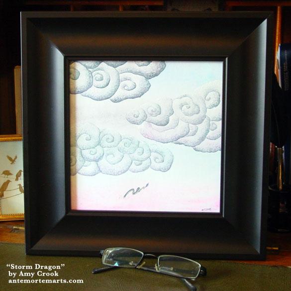 Storm Dragon, framed art by Amy Crook